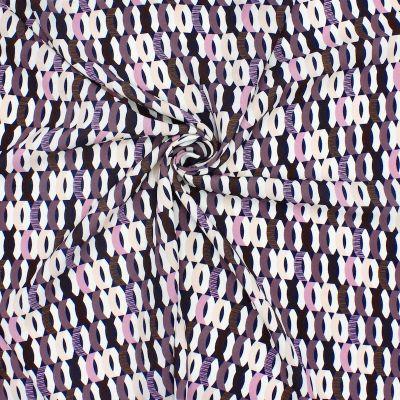 Tissu polyester type crêpe imprimé