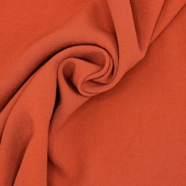 Tissu polyester type crêpe rouille