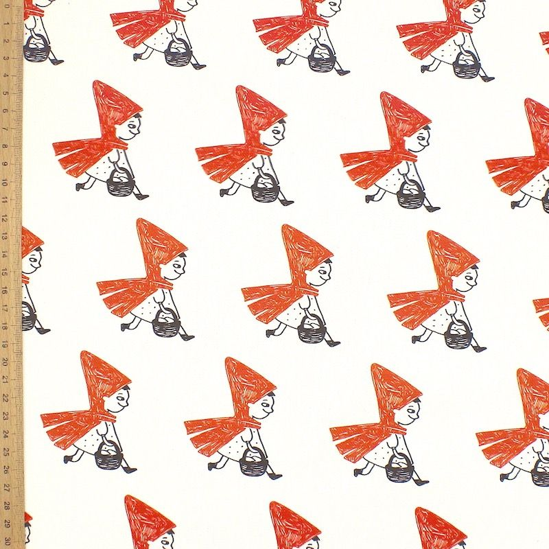 Upholstery printed with little red riding hood