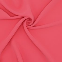 Polyester fabric - plain coral