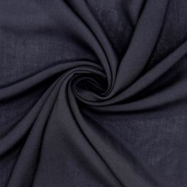 Crêpe polyester sluier - donkerblauw