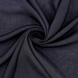 Voile crêpe polyester bleu nuit