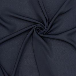 Viscosestof type sluier - marineblauw