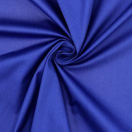 Satin de coton extensible bleu roy