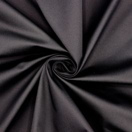 Extensible satin of cotton - black