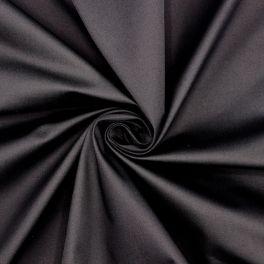 Satin de coton extensible noir