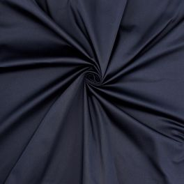 Extensible satin of cotton - navy blue