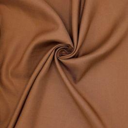 Viscose fabric with twill weave - hazelnut brown