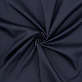 Tissu en coton extensible marine