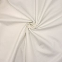 Tissu en coton extensible blanc