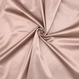 Extensible satin of viscose - blush pink