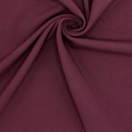 Fabric in polyester and viscose - burgondy