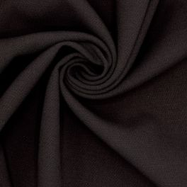 Fabric in polyester and viscose - black