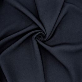 Fabric in polyester and viscose - navy blue