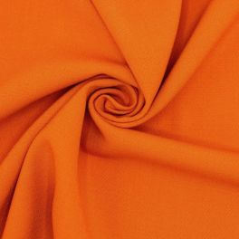 Fabric in polyester and viscose - burnt orange