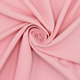 Extensible fabric with twill weave - light pink