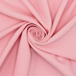 Tissu sergé extensible rose clair