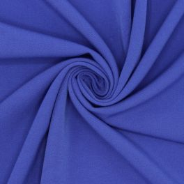 Extensible fabric with twill weave - Royal blue