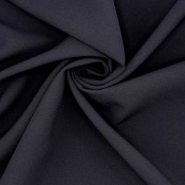 Extensible polyester fabric - navy blue