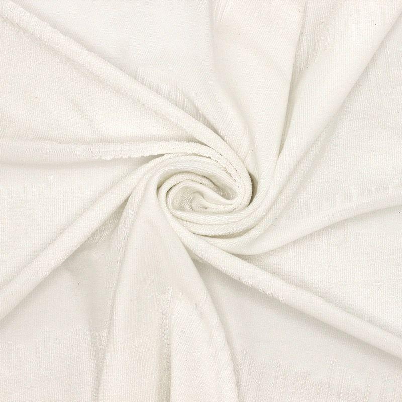 Tissu jacquard polyester blanc
