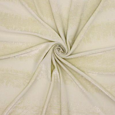 Tissu jacquard polyester beige