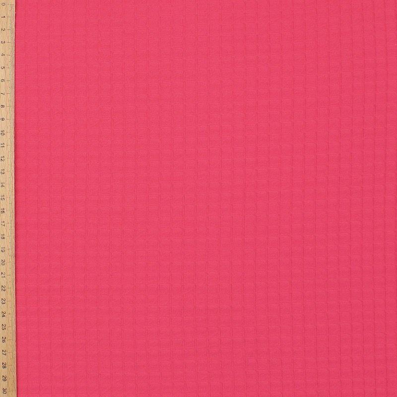 Maille jacquard polyester fuchsia