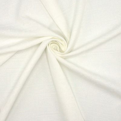 Tissu jacquard polyester blanc cassé