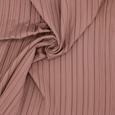 Pleated two-sided fabric - brown
