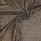 Refined velvet with brown pattern