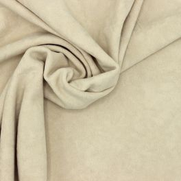 Extensible suede knit fabric - beige