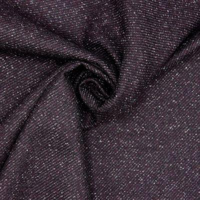 Tissu vestimentaire en laine prune