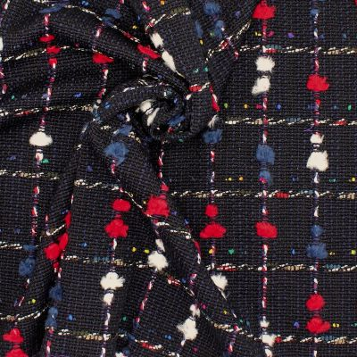 Plaid fabric with wool aspect