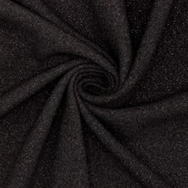 Heavy fantasy crêpe fabric - glossy black