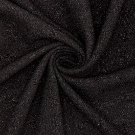 Zware  fantasie crêpe - blinkend zwart