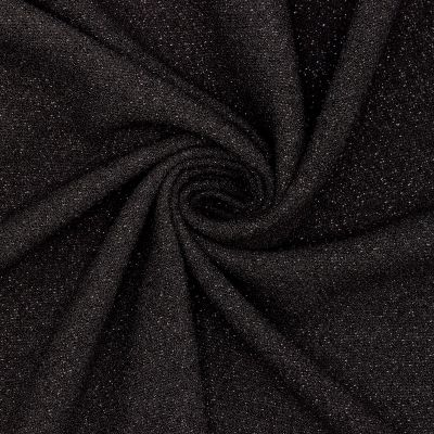 Heavy fantasy crêpe fabric - glossy black