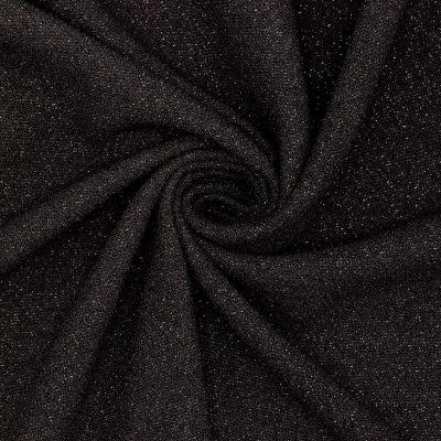Tissu crêpe lourde fantaisie noir brillant
