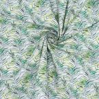 Cotton printed with foliage