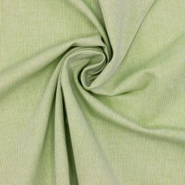 Cotton fabric with thin stripes - pistachio green