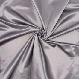 Satin en coton et polyester gris parme