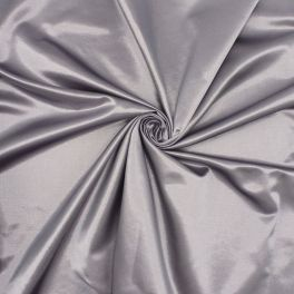 Satin in cotton and polyester - parme grey