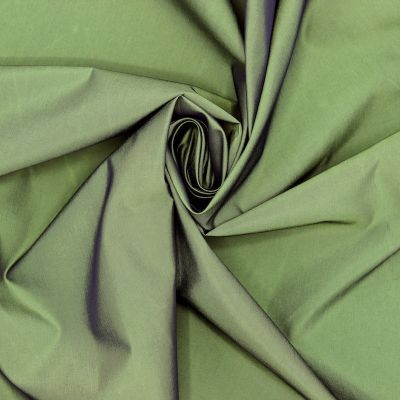 Waterproof windproof satinised fabric - green