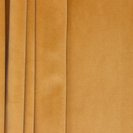 Velvet upholstery fabric - golden