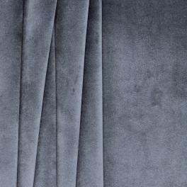 Tissu d'ameublement velours gris métal