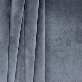 Velvet upholstery fabric - metal grey