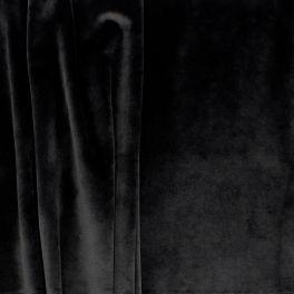 Tissu d'ameublement velours noir