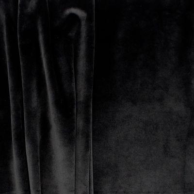 Velvet upholstery fabric - black
