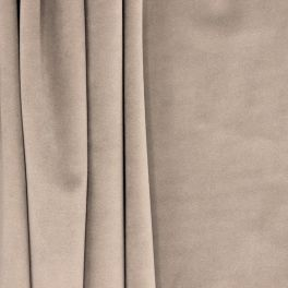 Tissu d'ameublement velours taupe