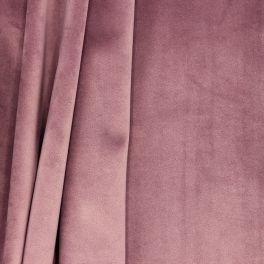 Tissu d'ameublement velours vieux rose