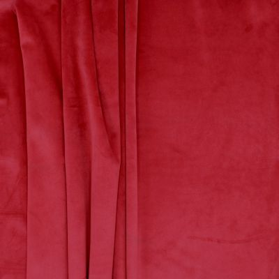 Velvet upholstery fabric - cherry red