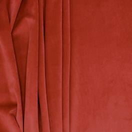 Tissu d'ameublement velours grenat